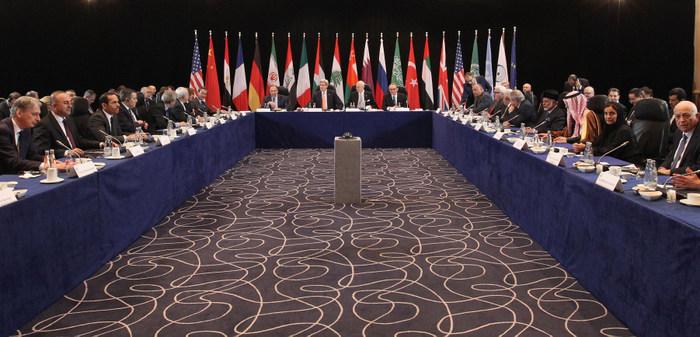 Международная группа сирийской поддержки проводит встречу в Мюнхене для дальнейшего обсуждения мирного урегулирования войны в Сирии. Фото: Alexandra Beier - Pool/Getty Images)