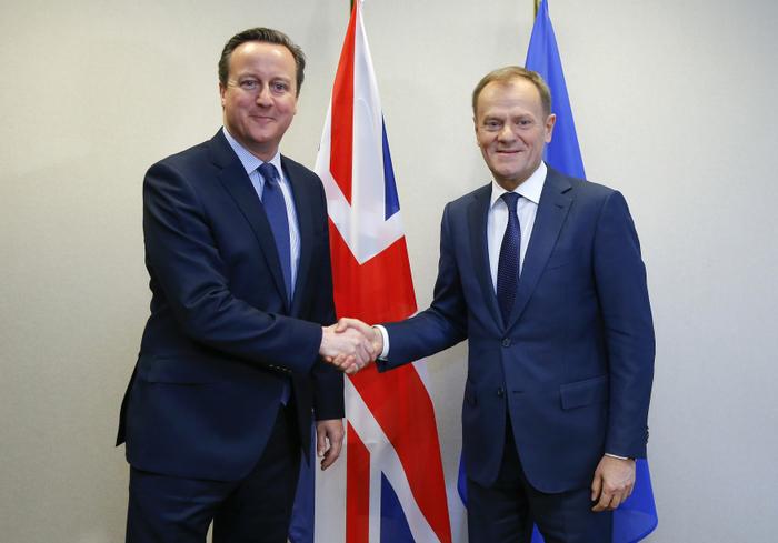 Премьер-министр Великобритании Дэвид Кэмерон и президент Европейского Совета Дональд Туск. Фото: Yves Herman - Pool /Getty Images
