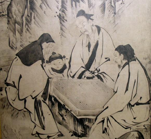 Игра в го, старинная японская иллюстрация. Фото: Public Domain