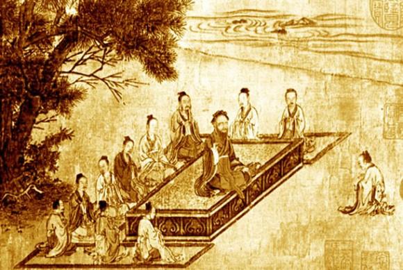 Конфуций и его ученики. Фото: Public Domain