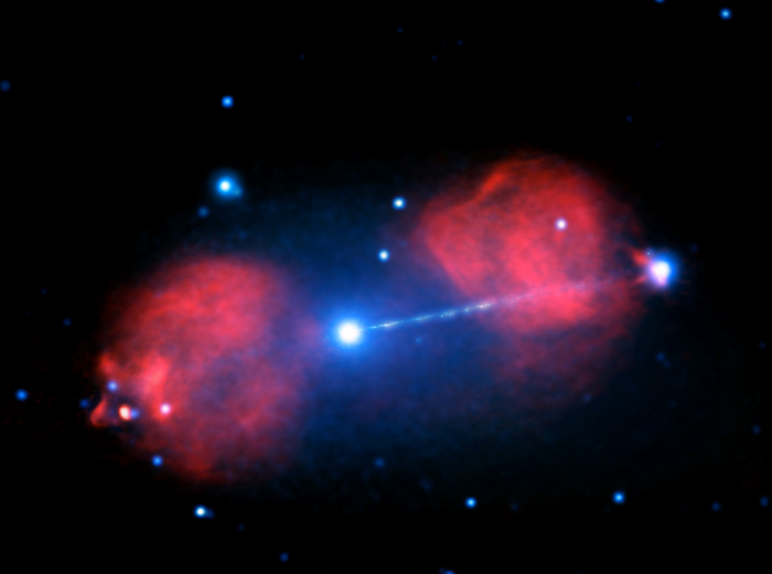 Изображение луча в радиоизлучении. Фото: NASA