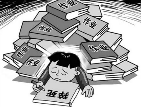 Китайский школьник, придавленный домашними заданиями, собираясь покончить с собой, пишет предсмертную записку. Рисунок с epochtimes.com