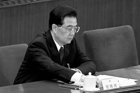 Китайский лидер Ху Цзиньтао на заключительном заседании Всекитайского собрания народных представителей 14 марта. Фото: Lintao Zhang/Getty Images