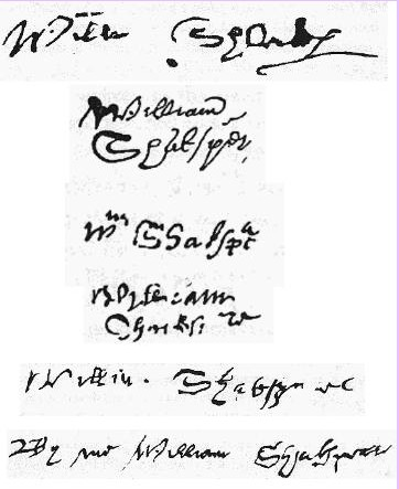 Известные подписи Шекспира. Фото: Bascon/wikipedia.org/public domain