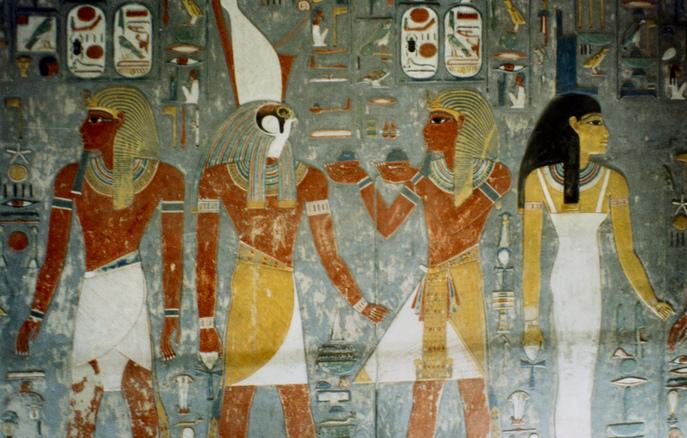 Раскрашенная стена в могиле фараона Хоремхеба. Фото: John McLinden/flickr.com/CC BY-ND 2.0