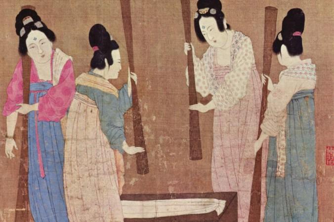 Древний Китай: женщины в  стирают бельё. Фото: WeChat