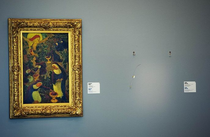 Место в музее «Кунстхал», где висела похищенная картина. Фото: ROBIN UTRECHT/AFP/Getty Images