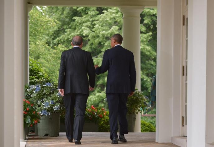 Реджеп Тайип Эрдоган и Барак Обама. Фото:  MANDEL NGAN/AFP/Getty Images
