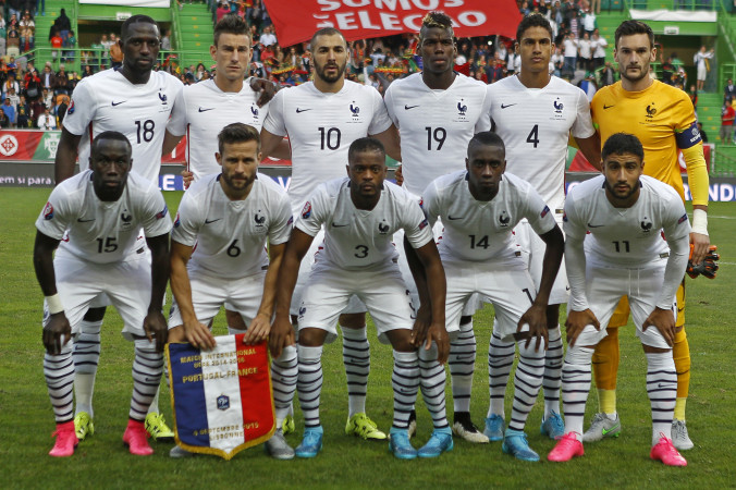 Сборная Франции по футболу. Фото: JOSE MANUEL RIBEIRO/AFP/Getty Images