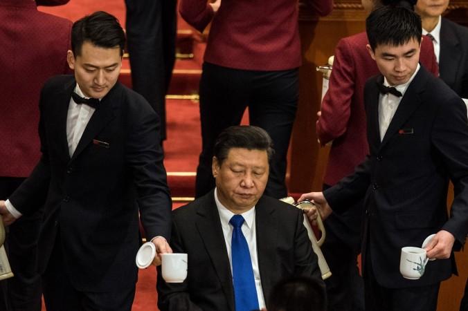 Председатель КНР Си Цзиньпин на открытии четвёртой сессии 12-го Национального комитета Китайской народной политической консультативной конференции (НПКСК) в Большом зале народных собраний в Пекине 3 марта 2016 года. Фото: JOHANNES EISELE/ AFP/Getty Images