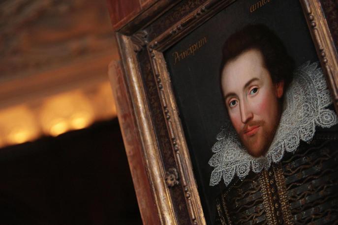 Портрет в картинной галерее Лондона. Этот портрет, написанный в 1610 году предположительно является единственным прижизненным портретом Уильяма Шекспира. Фото:  Leon Neal/AFP/Getty Images