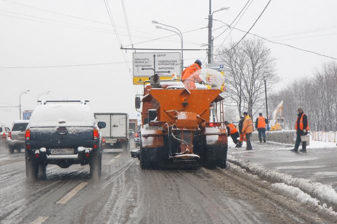 Москва, уборка снега, датчики, коммунальная техника