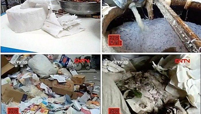 Китайские бумажные салфетки опасны для здоровья