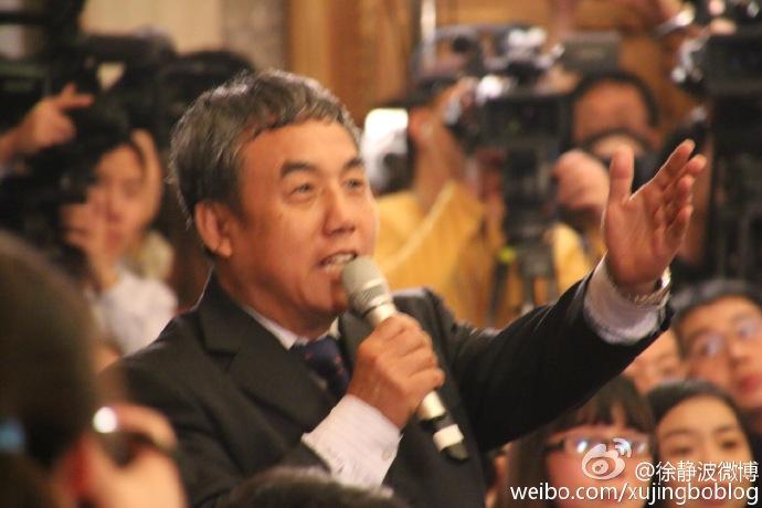 Журналист задаёт вопрос во время пресс-конференции в дни ежегодной парламентской сессии в Пекине. Март 2016 года. Фото: epochtimes.com