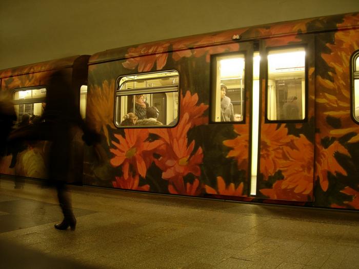 Москва, метро, транспорт, киностудия, кино, поезд