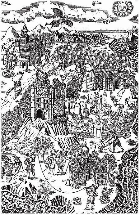 Звуковые дома, иллюстрация Лоуэлла Хесса для книги «Компьютерный дизайн для компьютерной эпохи», 1970 г. Фото: soeyamato.wordpress.com