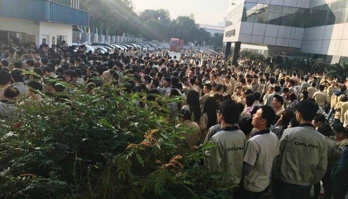 В Китае бастуют тысячи рабочих электронного завода