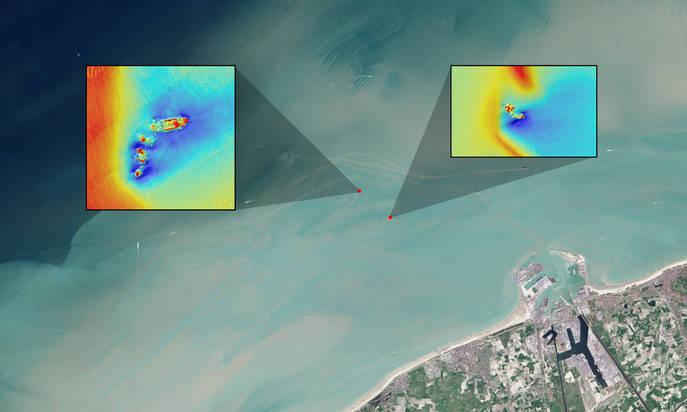 Поиск затонувших кораблей с помощью спутников. Фото: NASA