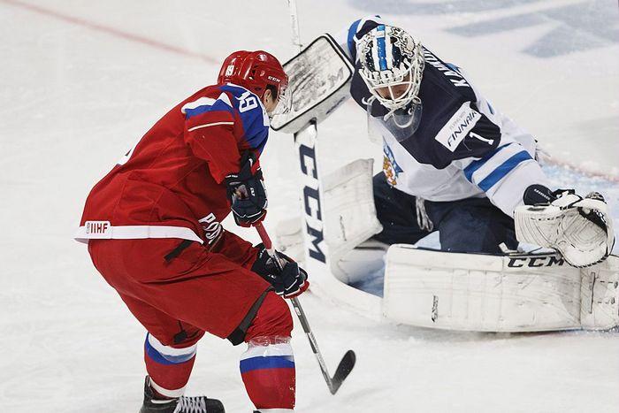 Матч Евротура между сборными России и Финляндии. Фото: RONI REKOMAA/AFP/Getty Images