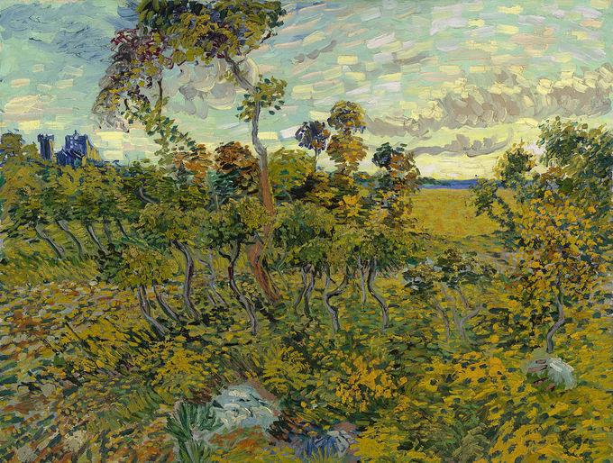 Картина Винсента ван Гога «Закат в Монмажуре». Фото: wikipedia.org/ public domain