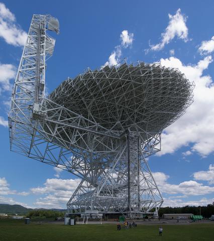 Телескоп Грин-Бэнк — один из радиотелескопов, используемых в проекте Мильнера. Фото: Geremia/wikipedia.org/ public domain