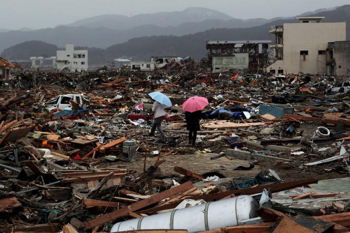 Последствия землетрясения и цунами 2011 года, Япония. Фото: Chris McGrath/Getty Images