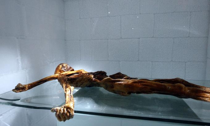 Тирольская мумия. Фото: Andrea Solero/AFP/Getty Images