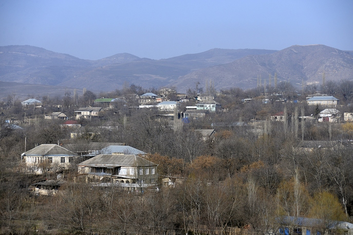 Нагорный Карабах на границе с Азербайджаном. Фото: TOFIK BABAYEV/AFP/Getty Images