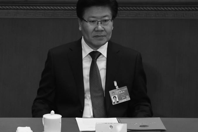 Партийный секретарь Синьцзяна и член политбюро Чжан Чуньсянь посещает закрытие III съезда всекитайского собрания народных представителей в Пекине 15 марта 2015 г. 4 марта на синьцзянском новостном сайте появилось загадочное открытое письмо с угрозами в адреса главы Китая Си Цзиньпина. Фото: WANG ZHAO/AFP/Getty Images