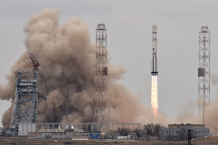 Запуск ракеты с космодрома Байконур. Фото: KIRILL KUDRYAVTSEV/AFP/Getty Images