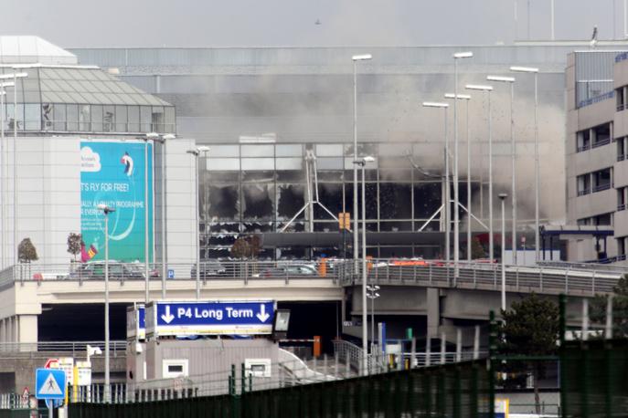 Аэропорт Брюсселя после взрыва