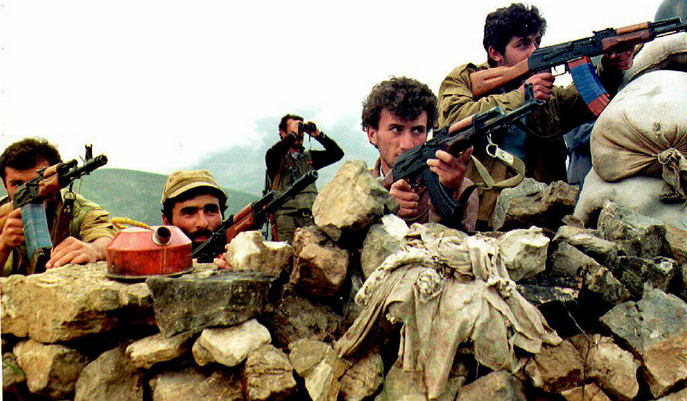 Конфликт в нагорном Карабахе в 1991 году привёл к масштабным военным действиям. Фото: OLEG NIKISHIN/AFP/Getty Images