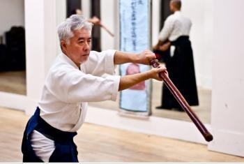 Масами Сёда во время тренировки учеников. Фото: Joshua Philipp/The Epoch Times