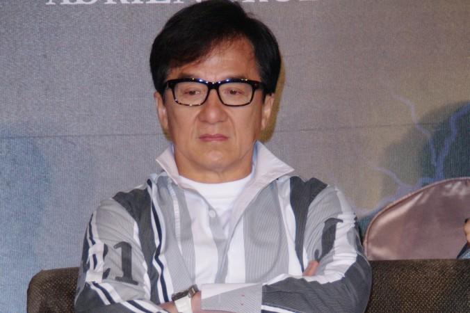 Джеки Чан в Тайбэй 12 февраля 2015 г. Фото: Epoch Times