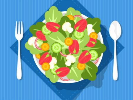 салат, вегетарианство
