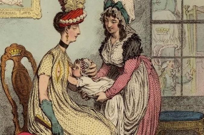 «Модная мама», художник Джеймс Гилрей, 1796 г. Британский музей