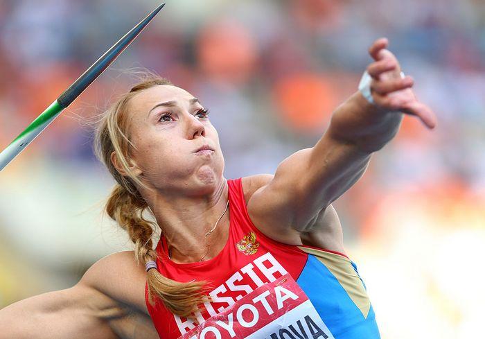 Мария Абакумова (метание копья). Фото: Paul Gilham/Getty Images