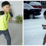 Хэ Иде бегает по снегу. Фото: Modern Express and Youtube