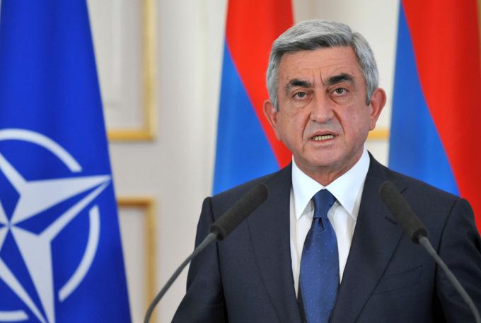 Президент Армении Серж Саргсян. Фото: KAREN MINASYAN/AFP/GettyImages