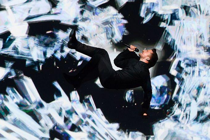 Номер Сергея Лазарева требовал хорошей физической подготовки. Фото: JONATHAN NACKSTRAND/AFP/Getty Images