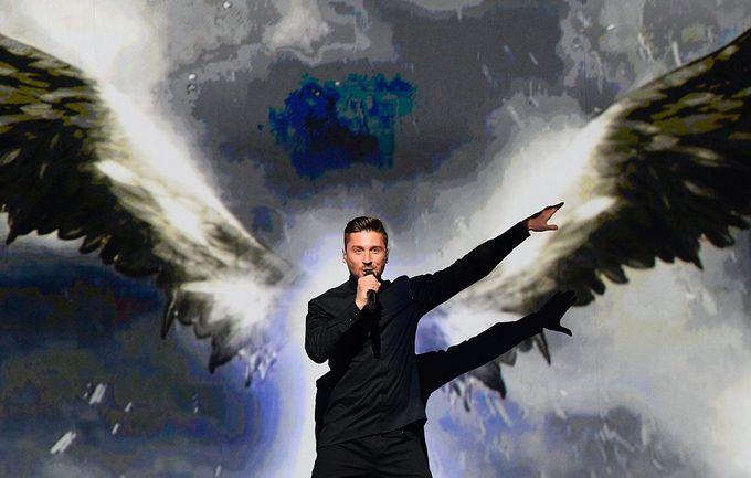 Сергей Лазарев на Евровидении показал первоклассное шоу. Фото:  JONATHAN NACKSTRAND/AFP/Getty Images