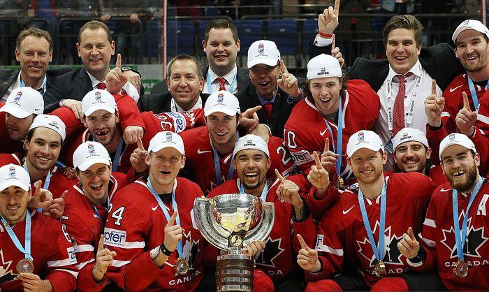 Сборная Канады выиграла ЧМ по хоккею 2016, Москва, 22 мая. Фото: Anna Sergeeva/Getty Images
