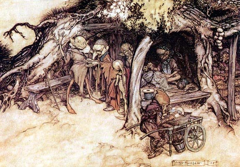 Иллюстрация к пьесе Шекспира «Сон в летнюю ночь» Артура Ракхама. Источник фото: Public Domain