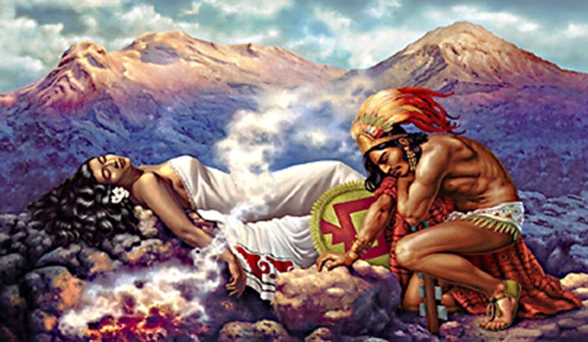 Легенда о Попокатепетль и Истаксиуатль. Фото: Inside Mexico