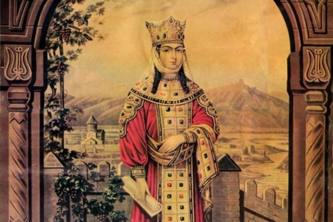 Царица Тамара, литография 1895 г. Фото: Public Domain