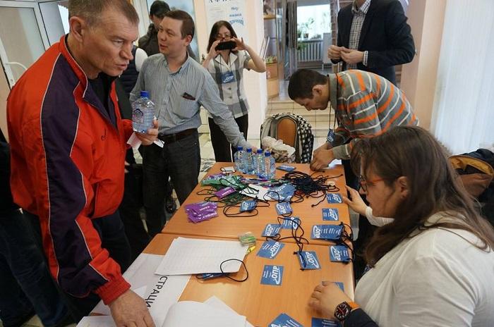 Дальнобойщики регистрируются перед съездом: Фото «Великой Эпохе» предоставлено администратором сайта opr.com.ru