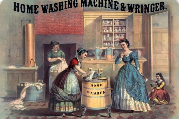 Старинный плакат для рекламы стиральной машинки. Фото: publicdomainpictures.net/Public Domain