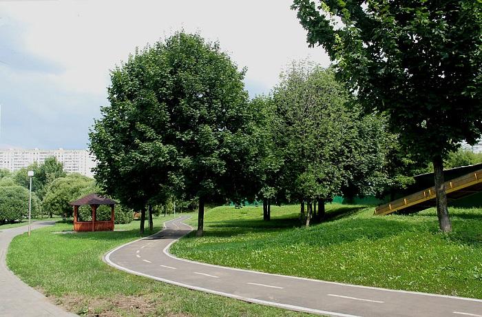 Велодорожка вдоль реки Городня в районе Зябликово города Москвы, 8 июля 2013 г. Фото: wikipedia.org/Барвенковский/CC BY-SA 3.0
