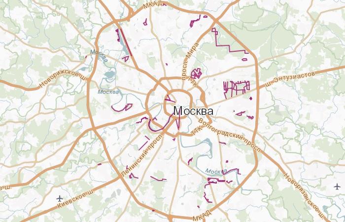 велодорожки в Москве