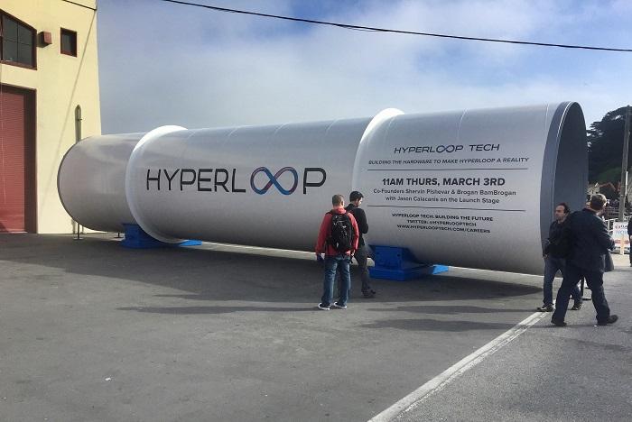 Секция трассы для вакуумного поезда компании Hyperloop One